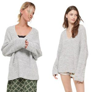 Urban Outfitters Oversized V-Neck Victoria Sweater